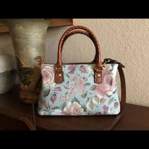 Patricia Nash Crackled Garden Rose Angela Satchel